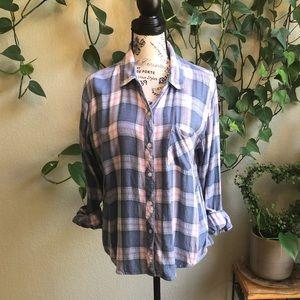 RAILS Plaid Flannel Button Down Top | Large